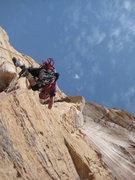 Rock Climbing Photo: Paul heading for the summit. photo jim Shimberg