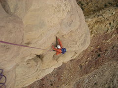 Rock Climbing Photo: Jim coming up third pitch