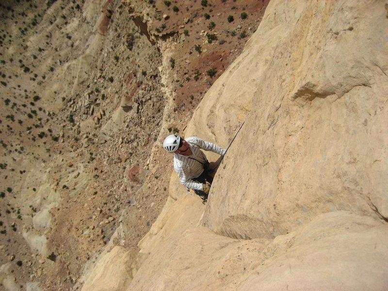 Rock Climbing Photo: Andy on pitch three
