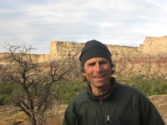 Rock Climbing Photo: Jim in desert heaven.