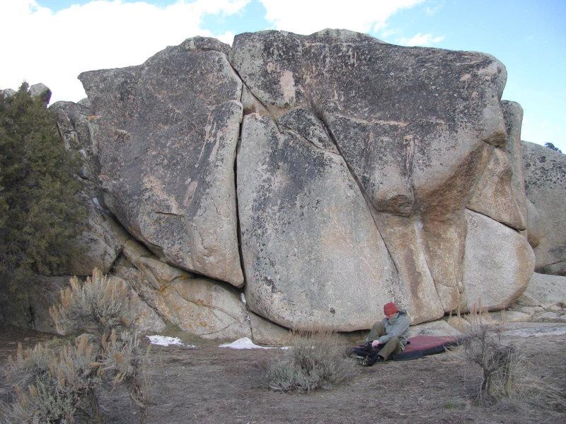 Rock Climbing Photo: The climber is below, Chief Broken Wing, a 5.10+ f...