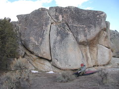 Rock Climbing Photo: The climber is below, Chief Broken Wing, a 5.10+ f...