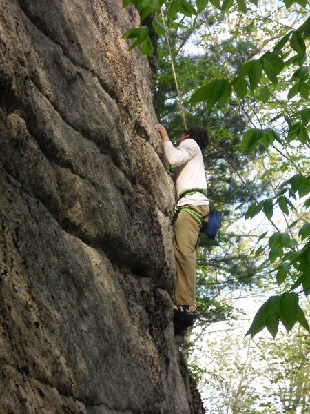 Rock Climbing Photo: Jon Garlough Top-roping Hidden Treasure 5.10d