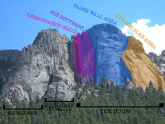 Rock Climbing Photo: The Book as divided on Mountain Project.