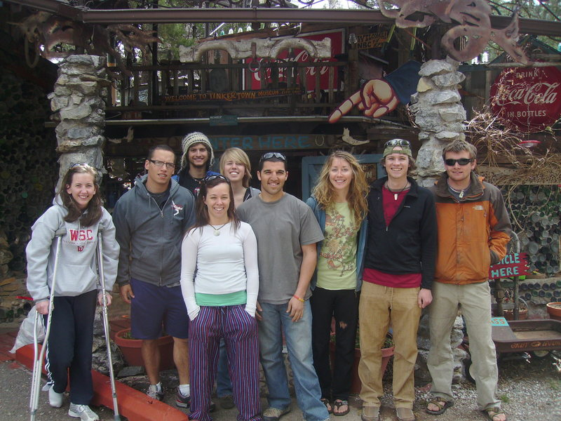 The Western State Climbing Team, created in 2009. <br> <br> For an article on the climbing team go to: <br> <br> http://www.western.edu/news/article.php?id=311