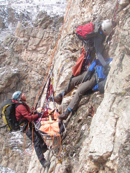 Rock Climbing Photo: The Western State College Mountain Rescue Team.   ...