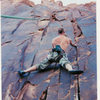 Proving once again there's no such thing as a good top rope picture. And, yes, hecklers, I DID lead this 10c on Wall Street, Pot Ash road, Moab, UT. I just didn't trust my bone-headed belayer to take this shot on lead.