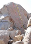 Rock Climbing Photo: The blue dots indicates the line for 'Alabama Hill...
