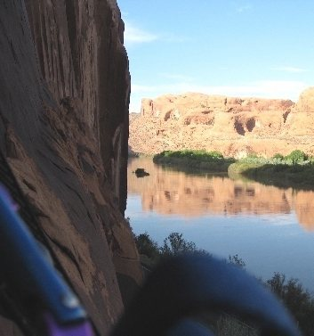 View from the anchors, Moab, UT