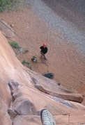 Rock Climbing Photo: Hope that guy down there can handle a rope....