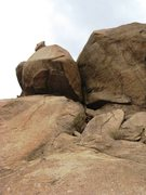 Rock Climbing Photo: As near as we could tell, this is the route high a...