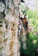 Rock Climbing Photo: Fred crushes