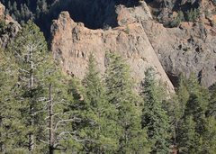 Rock Climbing Photo: View of Crack Parallel from Lower Gold Camp road a...