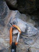 Rock Climbing Photo: 3rd bolt on Roadside Attraction at the Puoux, Glen...