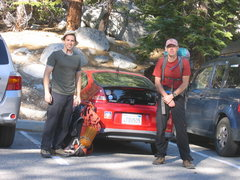 Rock Climbing Photo: car at Whitney Portal, day 1.