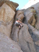 Rock Climbing Photo: Lora Woods climbing the right face of the steep di...