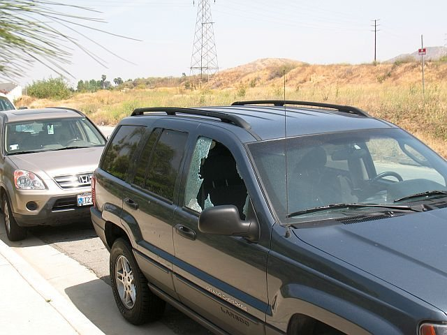 Rock Climbing Photo: One of two vehicles broken into on 5/03/09. A visu...