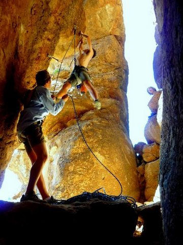 Rock Climbing Photo: Replace feet quickly.