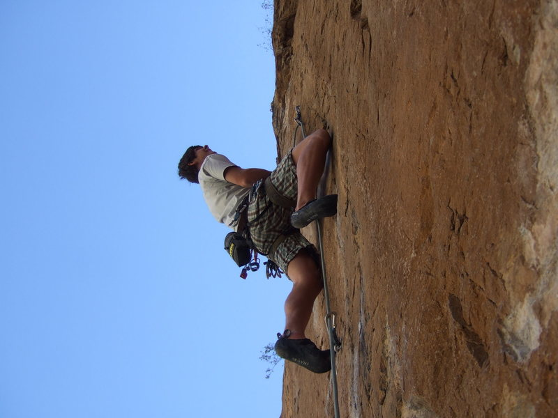 "Rock Climbing Photo: Dominick crankin' near the start of ""I've Bee..."
