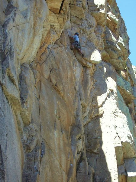 "Rock Climbing Photo: Geir on the first pitch of ""Business As Usual..."