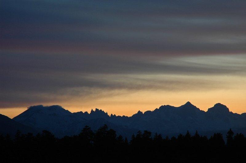 Rock Climbing Photo: Sunset over Mammoth