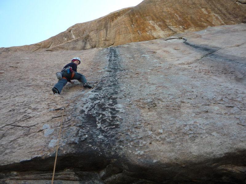 CIndy starting up the climb.