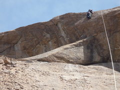 Rock Climbing Photo: Taking a top rope run.