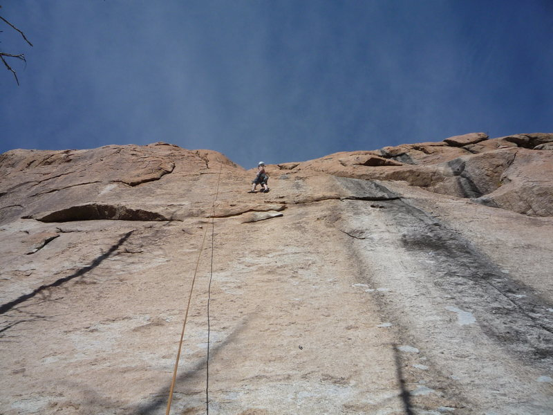 Rock Climbing Photo: Past the thin slab and onto the nicely featured ro...