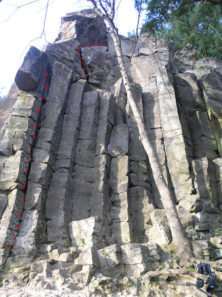 Rock Climbing Photo: The Sickle 5.8 I'm not sure if the lower section i...