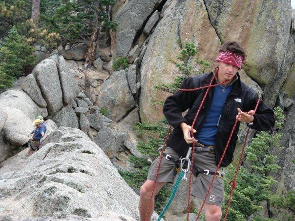 Rock Climbing Photo: Setting up to instruct on Hogback Ridge (private).