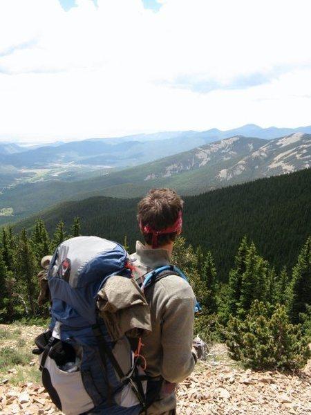 Rock Climbing Photo: Looking south in the Sangre de Cristo mountains.