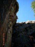 Rock Climbing Photo: Mavericks 5.10a at the crux