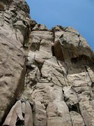 Rock Climbing Photo: Climber on the upper portion of Marry Me.