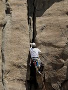 Rock Climbing Photo: Dan right below the crux of the climb. This was th...