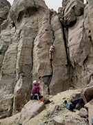 Rock Climbing Photo: Top roping the Short Tour.