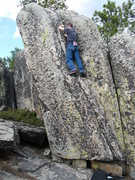 Rock Climbing Photo: Richard getting up there with a nice crack to his ...