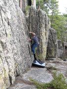 Rock Climbing Photo: Richard on a nice corner.
