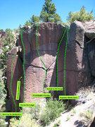 Rock Climbing Photo: Napoleon Blown Apart, Grunge Up the Munge, Proctol...