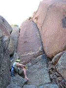 Rock Climbing Photo: 5.8 hands can be a nice respite from the relentles...