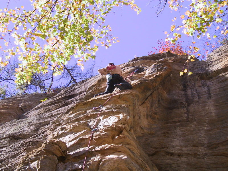 Rock Climbing Photo: Fire and Brimstone - unknown climber - my draws ;)...