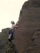Rock Climbing Photo: Desert Shield - 5.9 arete