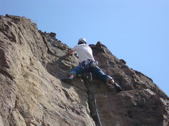 Rock Climbing Photo: A fun .10- that leads to a nice crack at the end. ...
