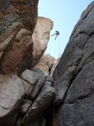 Rock Climbing Photo: One rope rap to the walk off. (we had a 70) or 3 s...