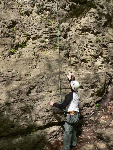 Rock Climbing Photo: Crack-a-toe-a 5.4