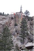 Rock Climbing Photo: Here is somewhat of a beta photo. Mildage is drawn...