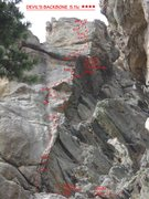 Rock Climbing Photo: Devil's Backbone from the left side of Mary's Bust...