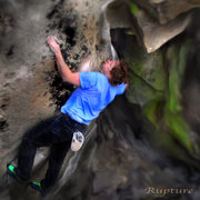 Rock Climbing Photo: Luke Childers feeling the magic of the Rupture!!
