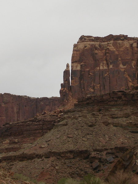 pointy tower from downcanyon