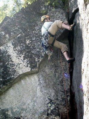 Rock Climbing Photo: My buddy AJ climbing UR