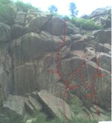 Rock Climbing Photo: The 'W' of sport routes.
